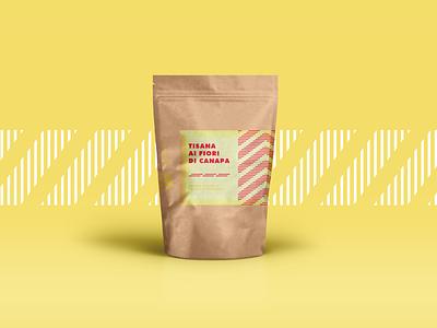 Tisana Packaging 2/3 way vaduva project paper packaging leaf illustrator design cannabis bag andrea