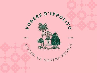 Podere D'Ippolito calabria oil typography design food pantone graphic designer icon vector wacom italy color logo brand illustration andrea illustrator vaduva