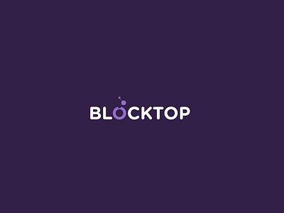 Blocktop Logo london italy digital blockchain identity brand logo blocktop vaduva andrea