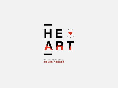 Heart of Art Logo new york tour tourism visit identity brand vaduva andrea museum art heart logo