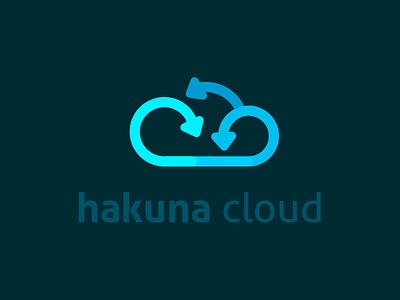 Hakuna Cloud Logo identity designer wacom adobe italy illustrator tech server branding startup up stop start hakuna cloud vaduva andrea brand logo