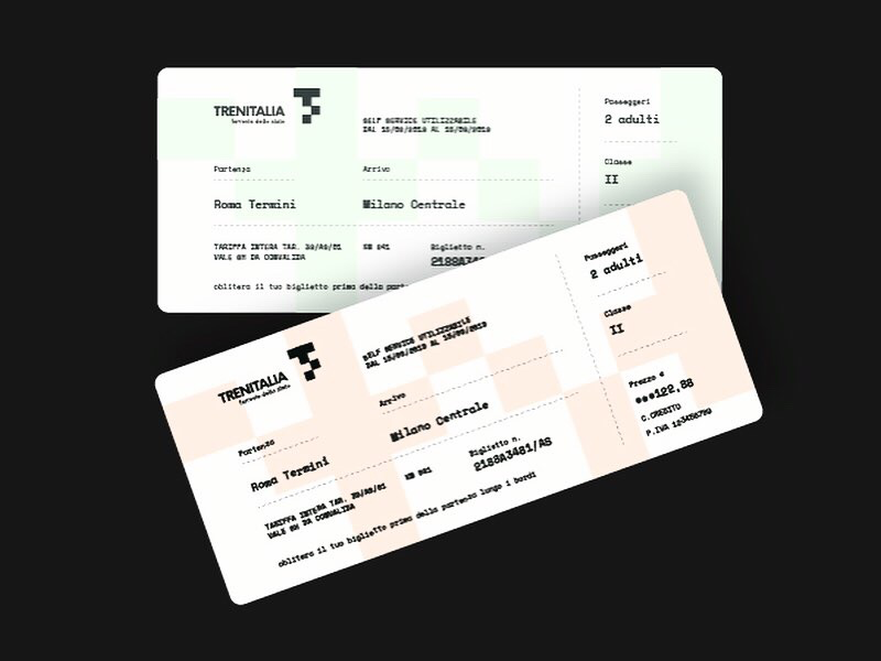 Tickets Trenitalia tickets identity brand project concept italy vaduva railways trenitalia