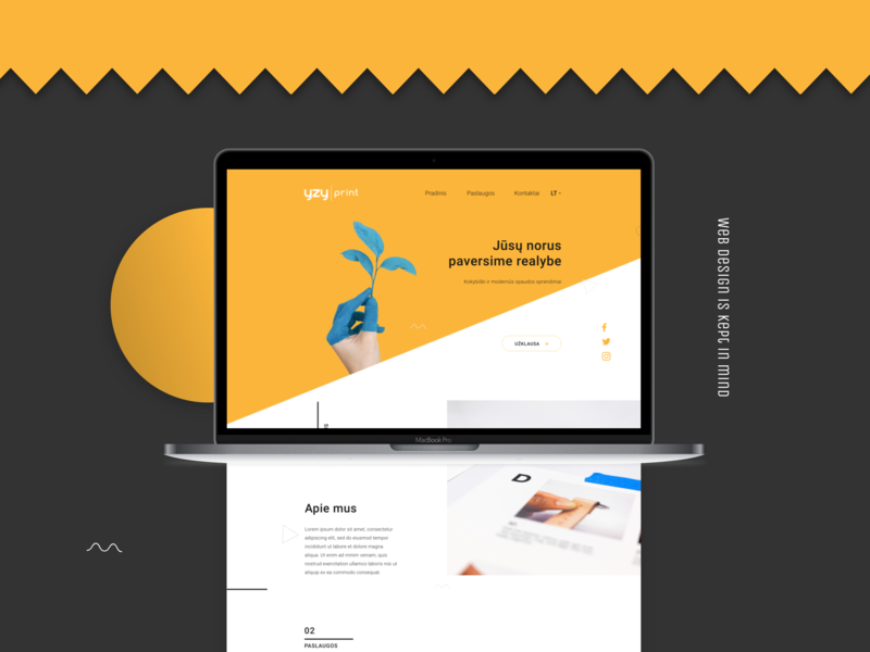 Yzyprint ux web ui design