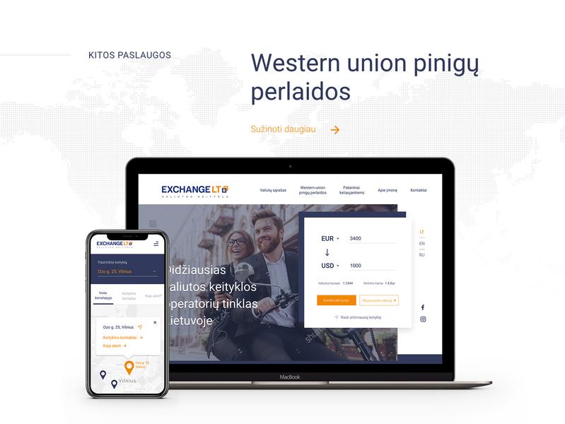 Exchange LT web ui ux