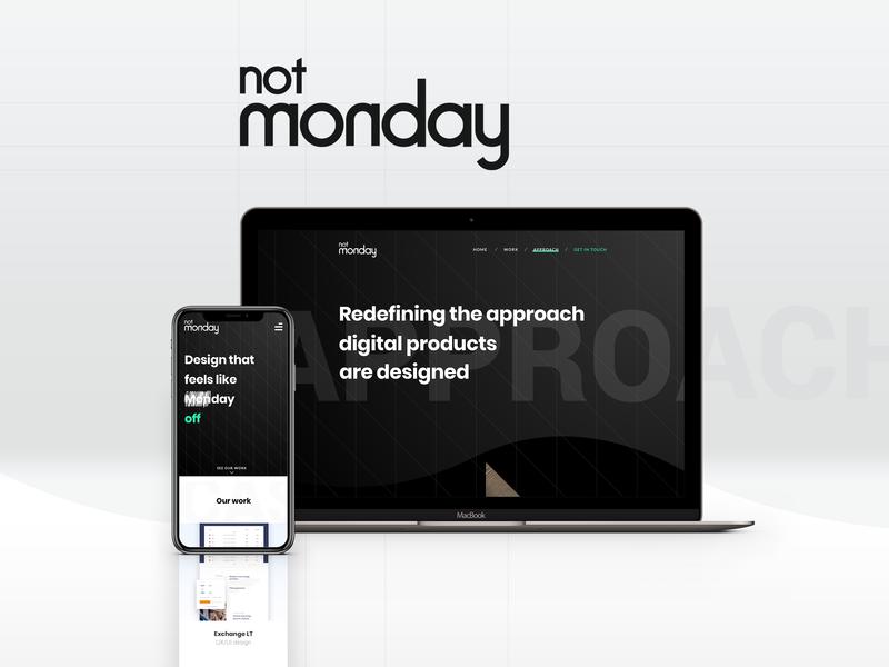 Not Monday website design branding web ux ui