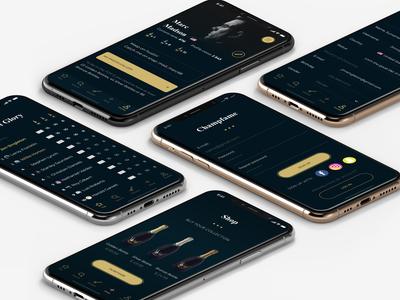 Luxury mobile app design