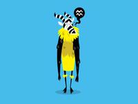 Tribal Dancer Yellow