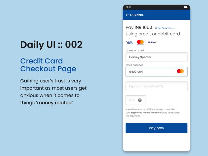 DailyUI::002 Checkout page