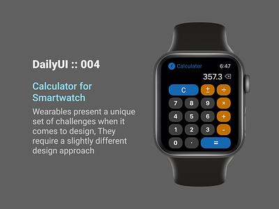 DailyUI::004 interface small smart apple minimal design app uxdesign ux ui dailyui calculator smartwatch