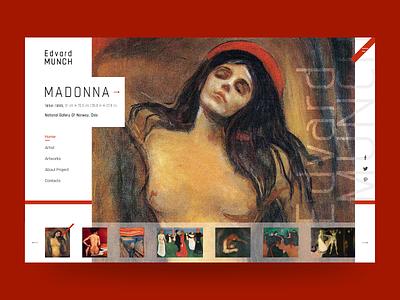 #artinwebdesign - Edvard Munch Concept impressionist impressionism concept art modern minimalist inspiration minimal website flat web ux ui design