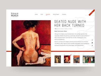 #artinwebdesign - Artwork Page Munch Concept