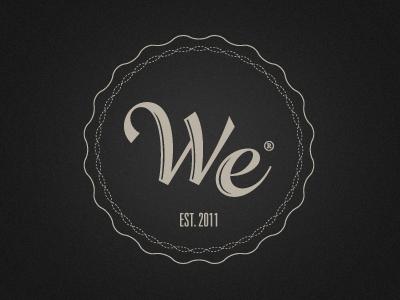 WE design logo brand
