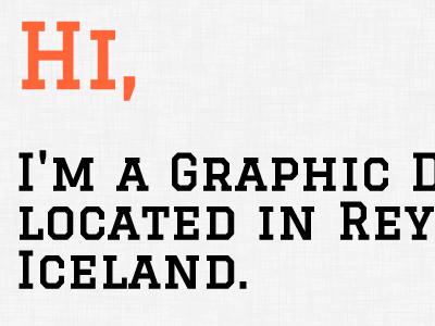 Hi, I'm a Graphic Desig...