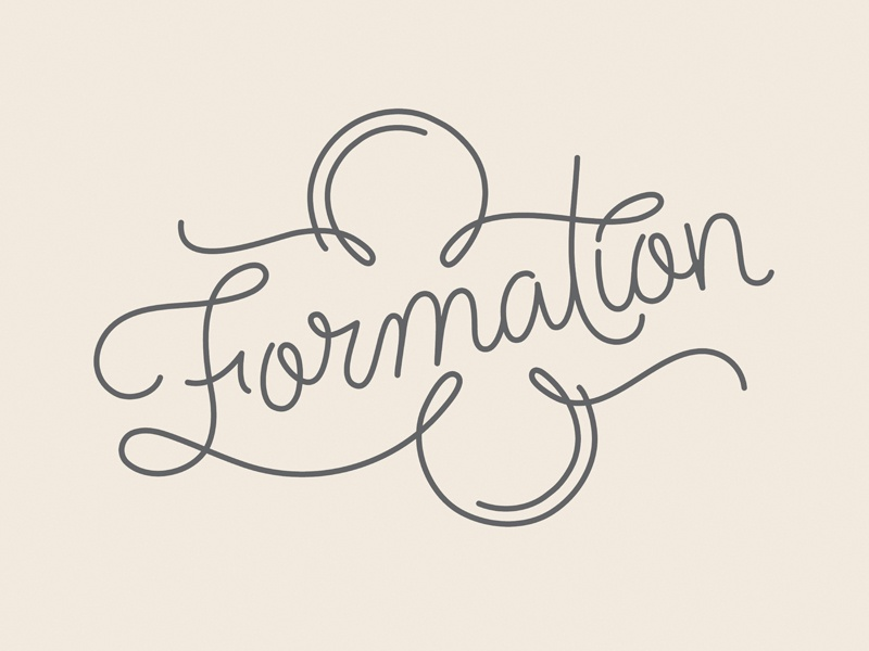 Formation beyonce formation coordination lettering typography type lines