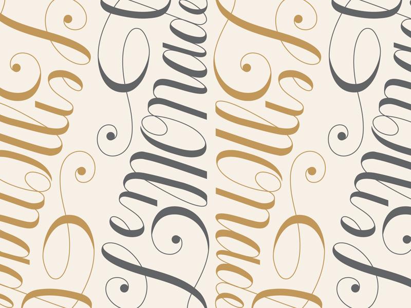 Lemonade - Pattern pattern lemonade beyonce script fancy lettering type typography