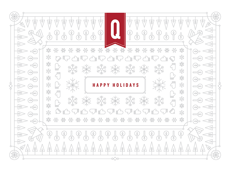 Holiday Pattern lines illustration pattern celebrate trees dove candles snowflakes christmas festive card holiday