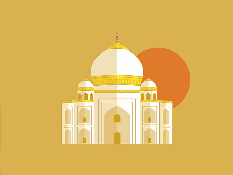 Taj Mahal monument india shadows gold sunset taj mahal