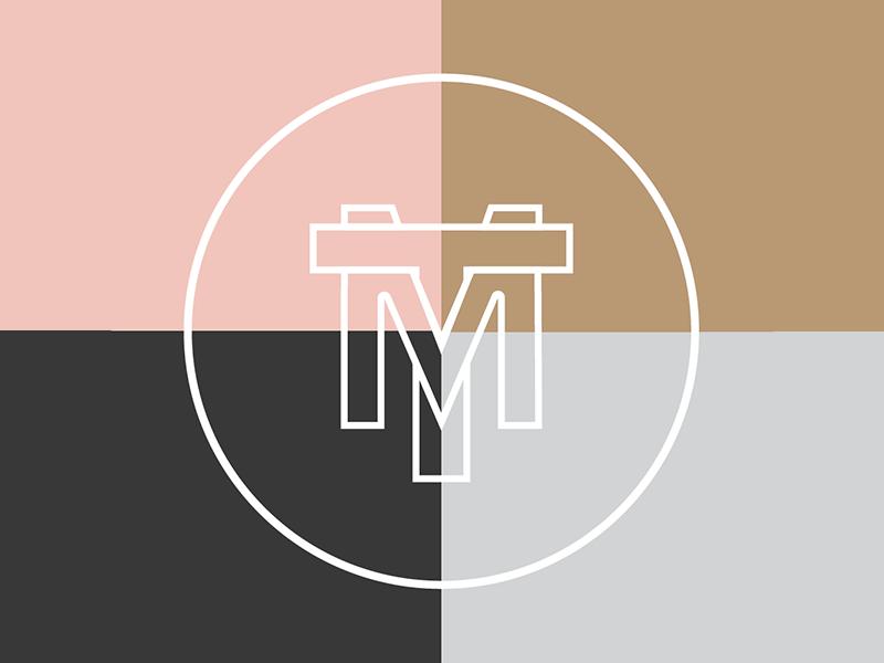 monumental things monogram interlock line typography type mt