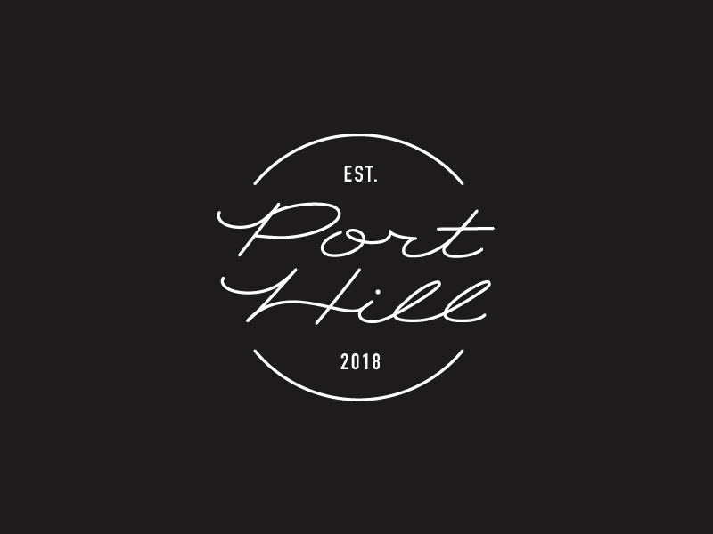Port Hill - Monogram monogram clothing minimal line lettering logo retail