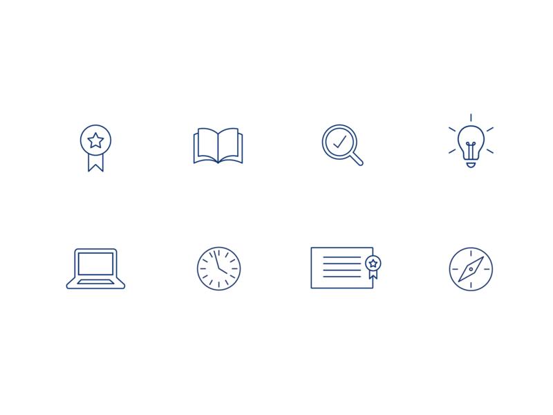 Education Icons stroke minimal education icons icon lines line