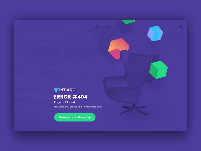 Error 404 page :)  ar shadow flat card