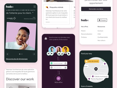 Habx showcase website - mobile responsive quote mobile web webdesign showcase branding concrete design habx