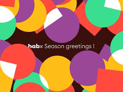 Season Greetings celebration celebrate confetti card whiscard wishes season greetings habx illustration illustr