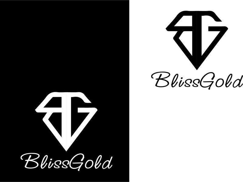 B  and G Logo flat vector branding logo design logo illustration design creative  design text logo