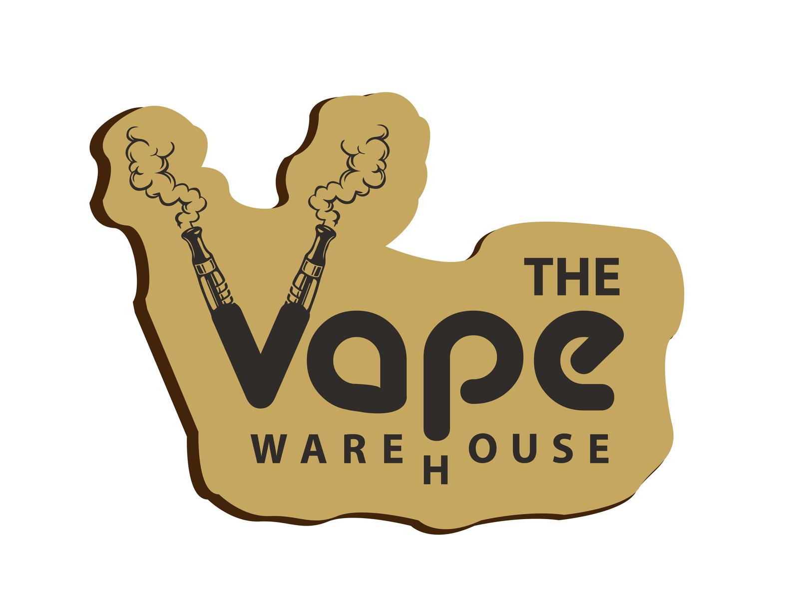 Vape Logo text logo vape logo vape house logo icon flat vector logo design logo illustration design creative  design branding