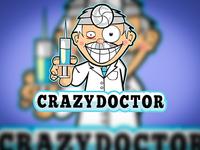 Crazy Doctor Logo Design