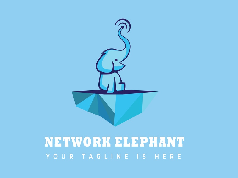 Elephant logo design animal logo creative  design branding illustration design logo logo design