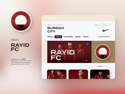 Rayid FC black red team football football club raiyd fc buridah saudi arabia saudi saudia ux uiux ui logo concept logo
