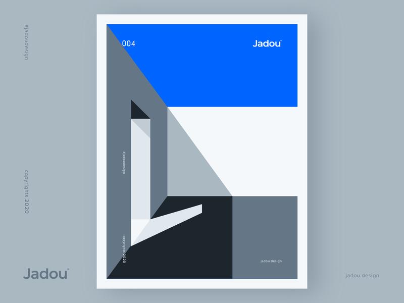 Jadou Design 004 blues door winter is coming winter jadou design design jadou