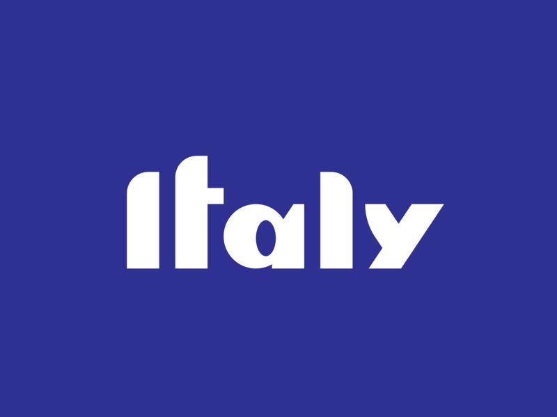 Italy blue logotype design logotype italy