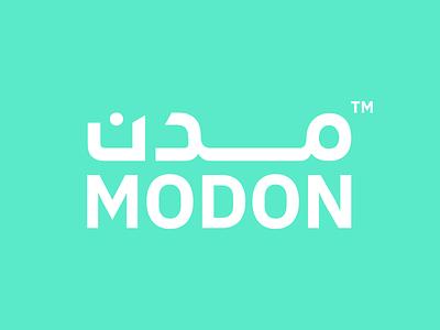 MODON Logotype cyan green modon saudi arabia saudi