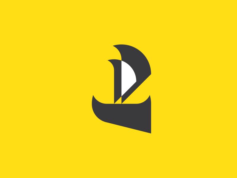 Boat boat logo boat yellow