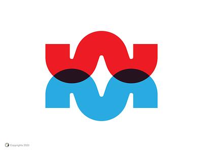 Wireless Marketing saudi arabia wm red blue letter m letter w