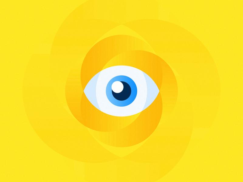 I Watch You! circle ahmed jadou blue eyes yellow eye watching