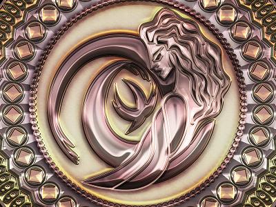 Art Deco medallion emblems