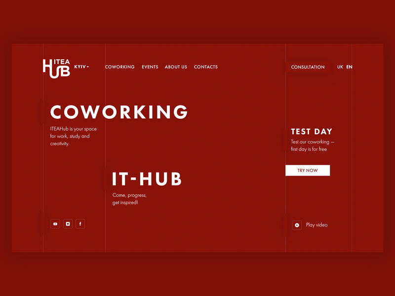 Concept design for coworking ITEAHub - コワーキング meeting room meeting coworkers creative study work cowork office ux uiux ui web design space it red hub coworking