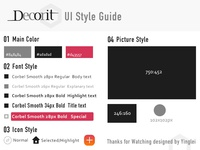 Mobile App UI Style Guide