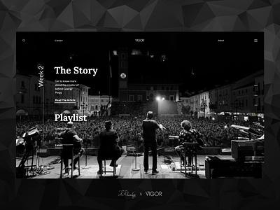 Vigor`s Main page kosar khonakdar mainpage main page ant design website design web design xd design xd music website ux ui photoshop branding design minimal