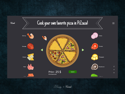 Pizza kosar khonakdar restaurant ui idea main page mainpage uidesign webdesign ui ux pizza online shop shopping website website design web design ux ui photoshop design