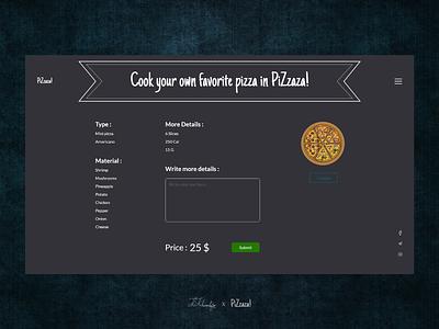 Pizza kosar khonakdar product design online food pizza fast food online shop shopping website website design ui  ux uidesign ui design xd design xd ux ui photoshop design