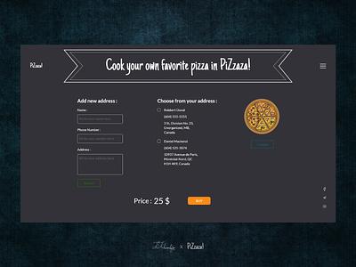 Pizza kosar khonakdar fast food pizza online food delivery online food order design idea designer ui  ux ui design shopping website online shop xd design xd photoshop ux ui design