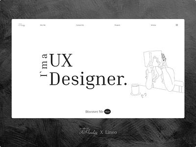 Lineo illustrator illustration ux cv design minimal xd ui  ux ui portfolio site portfolio line art lineart mainpage landingpage
