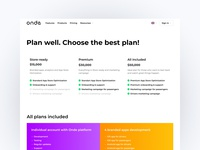 Pricing page | Hero section | onde.app