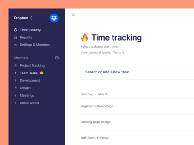 Time tracking for teams