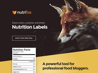 Unused Nutrifox Homepage Concept