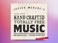 Joseph McDade's Totally Free Music for Creative Use